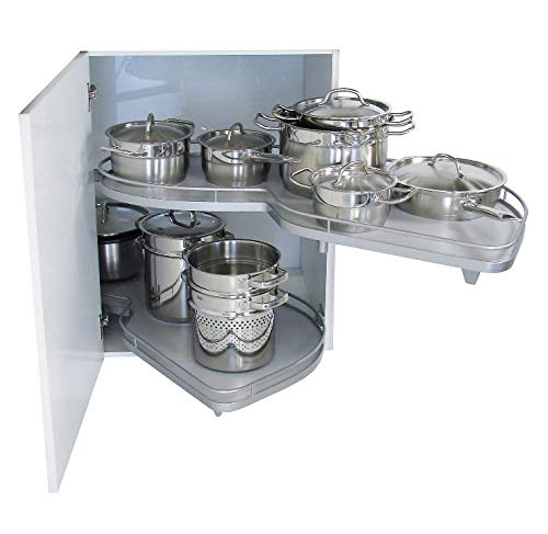 Kessebohmer LeMans II Kitchen (Right Hand) 1000mm Pull-Out Swivelling Tray System | Corner Storage Unit | Right tilting out for Cabinets with min. 50cm Door Width & min. Cabinet Length of 90cm