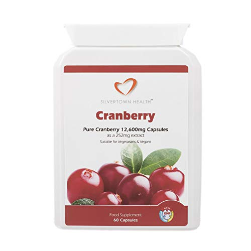Cranberry Capsules - 12600mg - High Strength, Premium Cranberry Fruit Extract Equivalent to 12,600mg Of Whole Cranberry Fruit Per Capsule - 60 Capsules