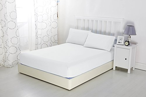 Sonia Moer Microfibre Fitted Sheet | Luxurious No-Iron Bottom Sheet with Strong Elastic Hem to Fit Snugly Around Your Mattress | Hypoallergenic, Breathable Bed Sheets Are Oh-So-Soft