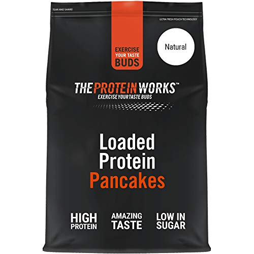 Loaded Protein Pancake Mix | High Protein Breakfast | Low Sugar Snack | Quick & Easy To Make | THE PROTEIN WORKS | Natural | 1 Kg