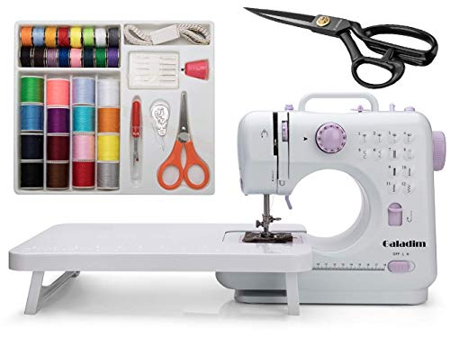 Galadim Sewing Machine (UK Plug, 12 Stitches, 2 Speeds, LED Sewing Light) - Small Electric Overlock Sewing Machines with 2 Speed 12 Built-in Stitch Patterns – Mini Household Sewing Machine GD-015-A31