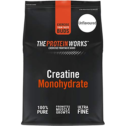 THE PROTEIN WORKS Creatine Monohydrate Powder | 100% Pure & Fine | Premium Grade Supplement For Lean Muscle Growth | Vegan | Unflavoured | 500 g