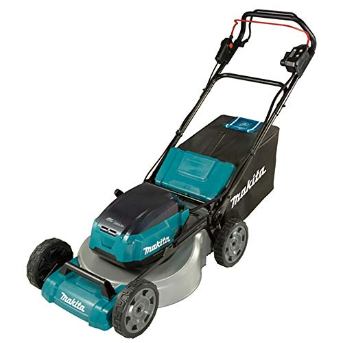 Makita DLM462PT4 Twin 18V (36V) Li-ion LXT 46CM Brushless Lawn Mower Complete with 4 x 5.0 Ah Batteries and Twin Port Charger