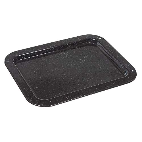 Invero Universal Vitreous Enamel Shallow Baking Tray Fits Most Oven Cookers (364mm x 287mm x 18mm)