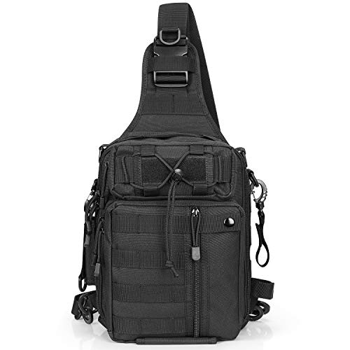 G4Free Fishing Bag Tactical Backpack EDC Sling Pack Shoulder Military Rucksack Tackle and Rod Storage for Outdoor Camping Hiking Travelling