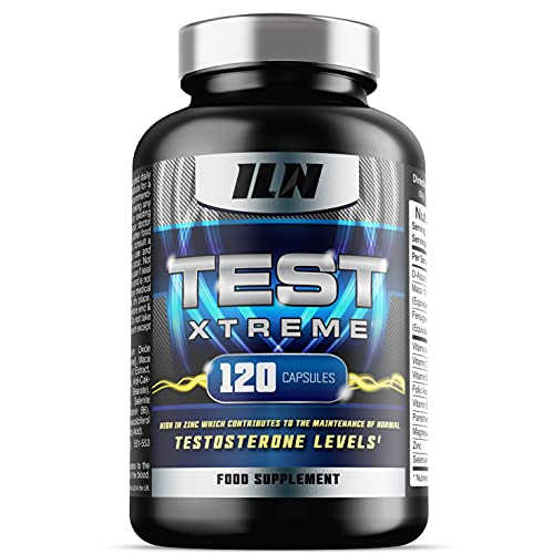 Test Xtreme - Testosterone Supplements for Men - Natural and Safe Booster with Zinc for Normal Testosterone Levels (120 Capsules)