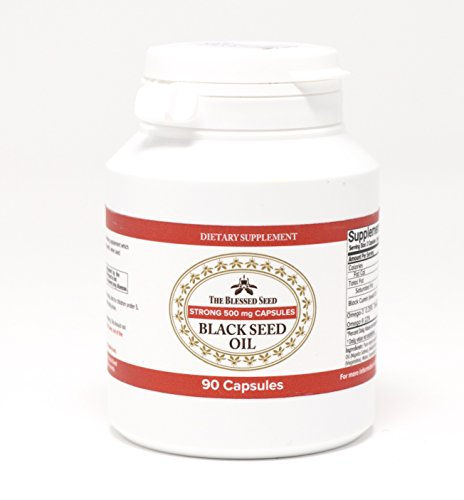 The Blessed Seed Strong Black Seed Oil Capsules - 90 capsules, 500mg - Pure Cold-Pressed Liquid with 4% Volatile Oil Content, Premium Health Supplement