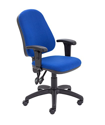 Office Hippo 2 Lever Ergonomic Office Swivel Chair with Adjustable Arms, Fabric, Royal Blue
