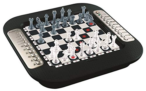 LEXIBOOK CG1335 Chessman FX, Electronic Chess Tactile Keyboard and Light and Sound Effects, 32 Pieces, 64 Levels of Difficulty, Family Board Game, Black/Grey