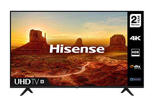 HISENSE 43A7100FTUK 43-inch 4K UHD HDR Smart TV with Freeview play, and Alexa Built-in (2020 series), Black