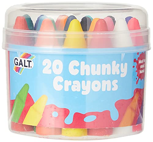 Galt Toys, Chunky Crayons - 20 Pieces, Easy to Hold Crayons for Kids, Ages 3 Years Plus