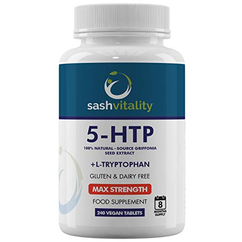 5-HTP Maximum Strength 400mg Griffonia Seed Extract 240 Vegan Tablets