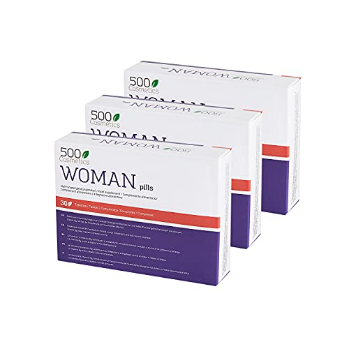 500Cosmetics Woman-Natural Tablets to Relieve The Symptoms of Menopause, Hormonal Regulation and Increase Libido-Natural Ingredients-Take 1 Daily -Manufactured and Registered in The EU. (3)