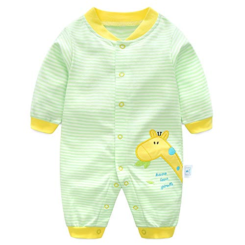 Baby Rompers Boys Girls Onesies Cotton Overalls Long Sleeve Jumpsuit Pyjama, House1, 3-6 Months