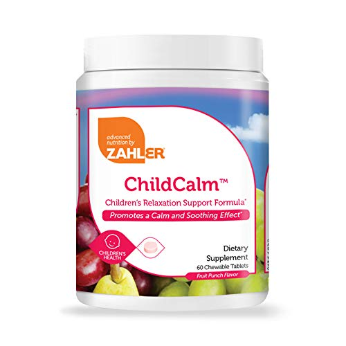 Zahler ChildCalm Chewable Magnesium for Kids | 60 Multivitamin for Children Supplements - 200mg Lemon Balm Leaf Extract, 100mg L-Theanine & 80g Magnesium per Serving | Non-GMO & Kosher Certified