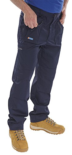 CLICK ACTION WORK TROUSERS NAVY BLUE 32
