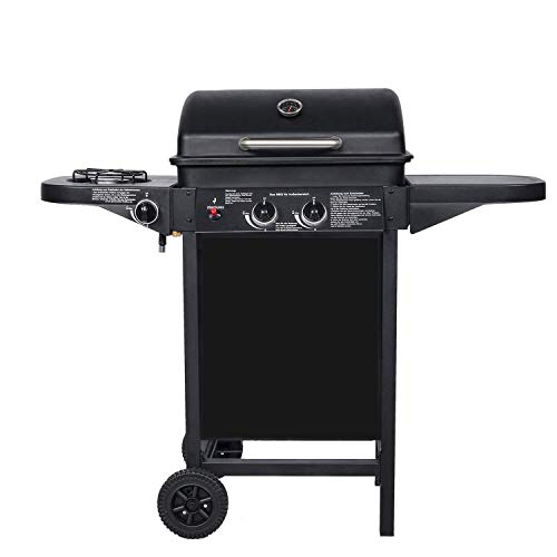 BROILUCK Outdoor Garden Gas Grill 2 + 1 Burner Outdoor Kitchen Grill Trolley Grill Station