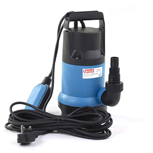 【Upgraded Motor】 400W, 7500 L/H,Lift 5m Water Pump, Heavy Duty Electric Submersible Pump, Clean/Dirty Water Pump with Float Switch,Great for Swimming Pools, Cellars, Garden, Ponds