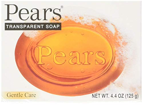 Pears Natural Glycerine Transparent Soap, 4.4-Ounce bar (Pack of 12)