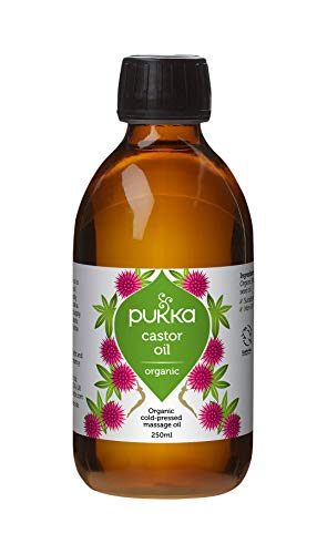Pukka Herbs Organic Cold Pressed Castor Oil, 100% Pure and Natural Hair Oil, Hexane Free, 250 ml