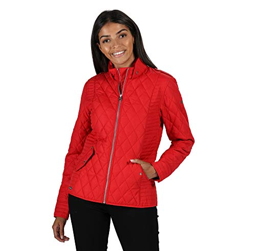 Regatta Women's Carita' Showerproof Insulated Fully Lined With Back Vents Baffled/Quilted Jackets, True Red, 16