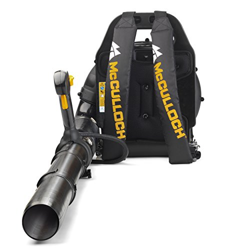 McCulloch GB 355 BP Backpack Leaf Blower: 1500 W Engine Power, 46cc, 355 Km/h Blow Speed, Variable Speed, Full Anti-Vibration System, Cruise Control, with Backpack Included