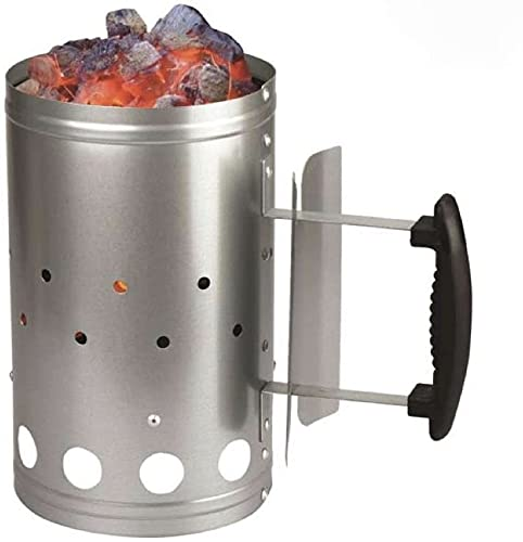 ADEPTNA Heavy Duty Barbecue BBQ Chimney Starter Charcoal Coal Starter Quick Start Barbecue Lighter Burning – Safe and easy to Use