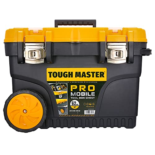 Tough Master UPT-2010 Tool Chest Professional Mobile Tool Box Chest on Wheels with Tote Tray, 24 inch/62cm