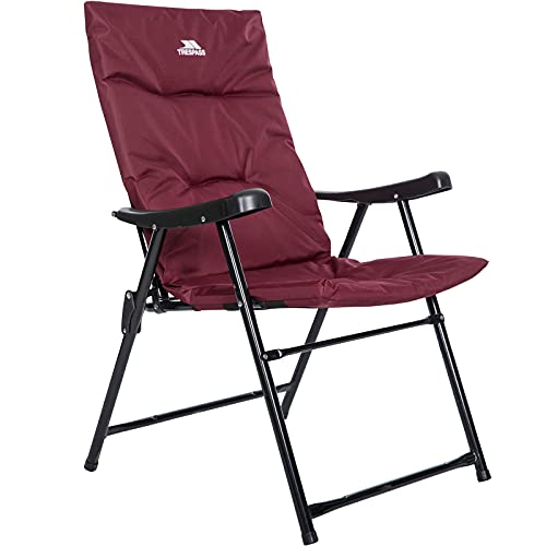 Paddy Folding Padded Camping Garden Outdoor Deck Chair (Maroon)