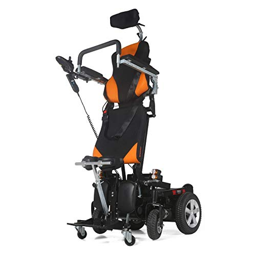 """Electric Wheelchair Foldable Lightweight Deluxe Power Mobility Aid Wheel Chair Dual """"500W"""" Motors Dual Battery Portable Electric Wheelchair"""