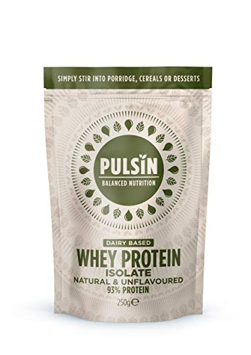 Pulsin Natural Unflavoured Whey Isolate Protein Powder 250g (Gluten Free / Palm Oil Free)