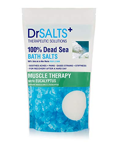 DRSALTS 100% Dead Sea Bath Salts Eucalyptus 1kg Post Workout Therapy With Natural Minerals, Soothe Muscle Aches & Pains, Eases Strains & Stiffness After Working Out. Flush Out Toxins. Recover Faster