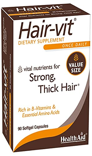 HealthAid Hair-vit (Vitamins for Hair Growth with Essential Vitamins and Mineral), 90 Capsules
