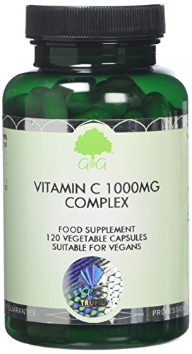 G&G Vitamins Vitamin C Complex 1000mg - with Rosehip and Acerola - 120 Capsules