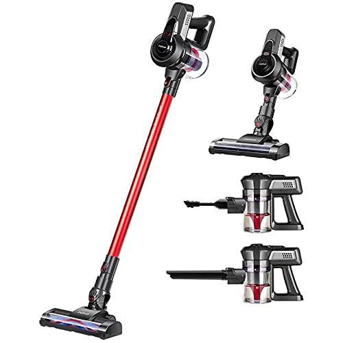 Jajibot Cordless Vacuum Cleaner, 12000Pa Stick Vacuum, 2 In 1 Handheld Lightweight Vacuum Cleaner with Rechargeable Li-Ion Battery and Power Brush For Carpet Floor Pet Hair Car