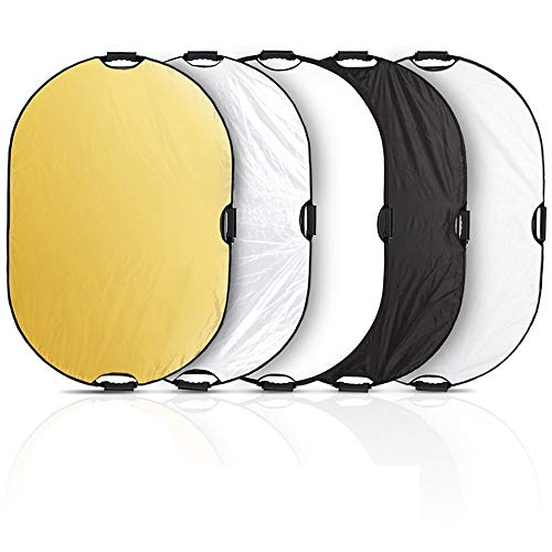 Selens 5-in-1 60x90cm Oval Reflector with Handle for Photography Photo Studio Lighting & Outdoor Lighting