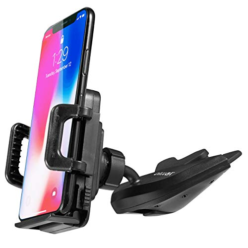 Olixar CD Slot Phone Holder - Car Phone Mount - Adjustable Premium Cradle with 360 Degree Rotation - Universal Fit for all iPhone, Samsung Galaxy and More