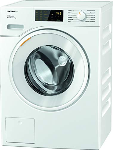 Miele WSD323 Freestanding Washing Machine with Quick PowerWash, 8 kg Load, 1400 rpm spin, White [Energy Class A]