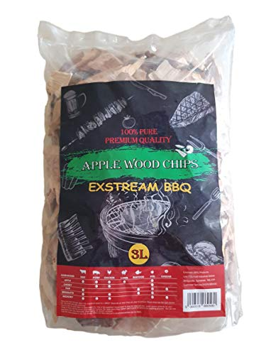 Exstream BBQ Barbecue Smoking Wood Chips Food Smoke Apple 3L 100% Natural No Chemicals