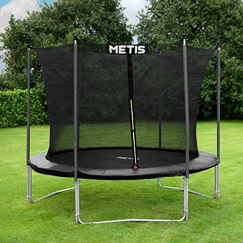 METIS Garden Trampolines – 8ft, 10ft, 12ft, 14ft,15ft | Family Outdoor Fun – Padded Springs and Tall Net Enclosure (10ft, Voyager)
