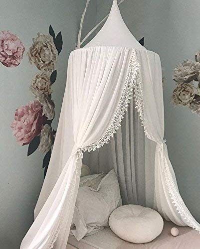 Lace bed canopy over cot canopy princess bed canopy