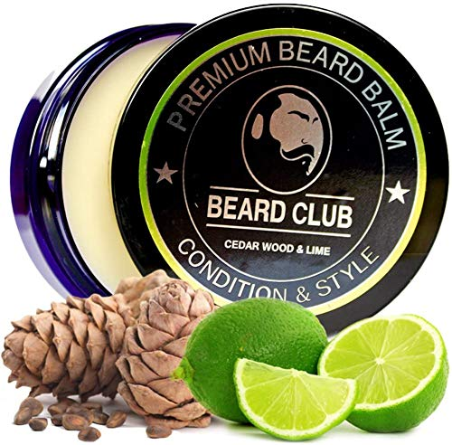Premium Beard Balm | Cedar Wood and Lime | The Best Beard Conditioner & Softener to Shape & Style your Beard, While Stopping Beard Itch & Flakes | Natural & Organic | Great for Hair Care & Growth (Cedar Wood & Lime)