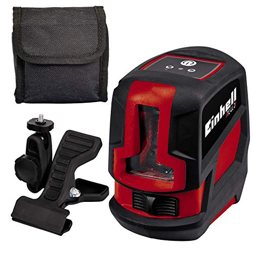 Einhell TC-LL 2 Cross Line Laser Level with Working Range of 8 m, Red