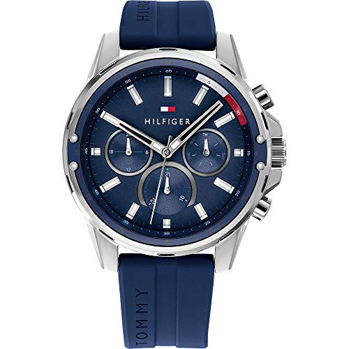 Tommy Hilfiger Men's Analogue Quartz Watch with Silicone Strap 1791791
