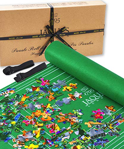 Jaques of London Jigsaw Puzzle Mat 1500 Pieces   Premium Puzzle Roll   Foldable Puzzle Storage   Jigsaw Accessory   Durable Felt Jigroll