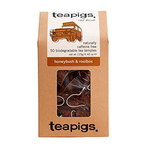 Teapigs Honeybush and Rooibos Tea Bags Made With Whole Leaves (1 Pack of 50 Tea Bags)