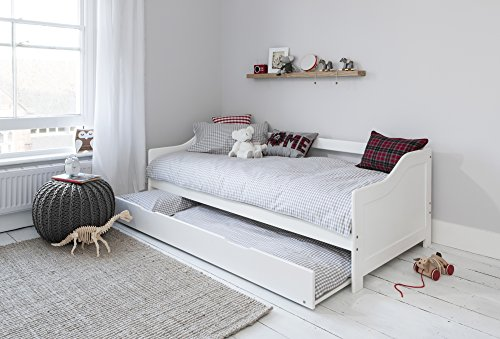 Noa and Nani - Hove Single Day Bed with Pullout Trundle - (White)