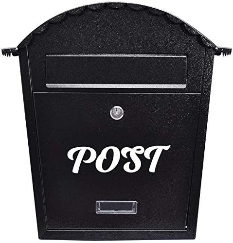 COSTWAY Exlarge Stainless Lockable Mailbox Post Letter Newspaper Box Wall Mounted