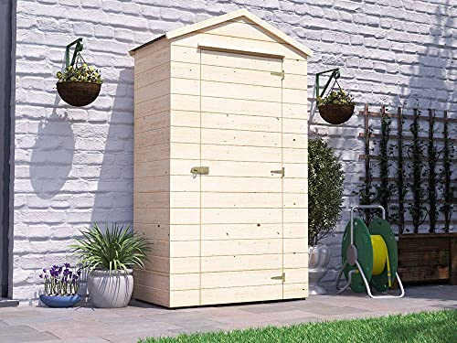 Dunster House Sentry Box Wooden Garden Tool Shed with Storage Shelf and Tool Rail - Talia™