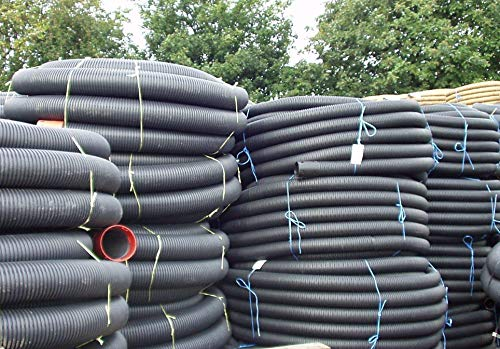 Perforated Pipes Supplied in coils for Drainage 80 mm X 25 m Land Drain UK Mainland only